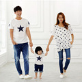 Family Clothing New 2017 fashion mother father baby cotton family look short sleeve Family Matching Outfits Mommy and Me Clothes