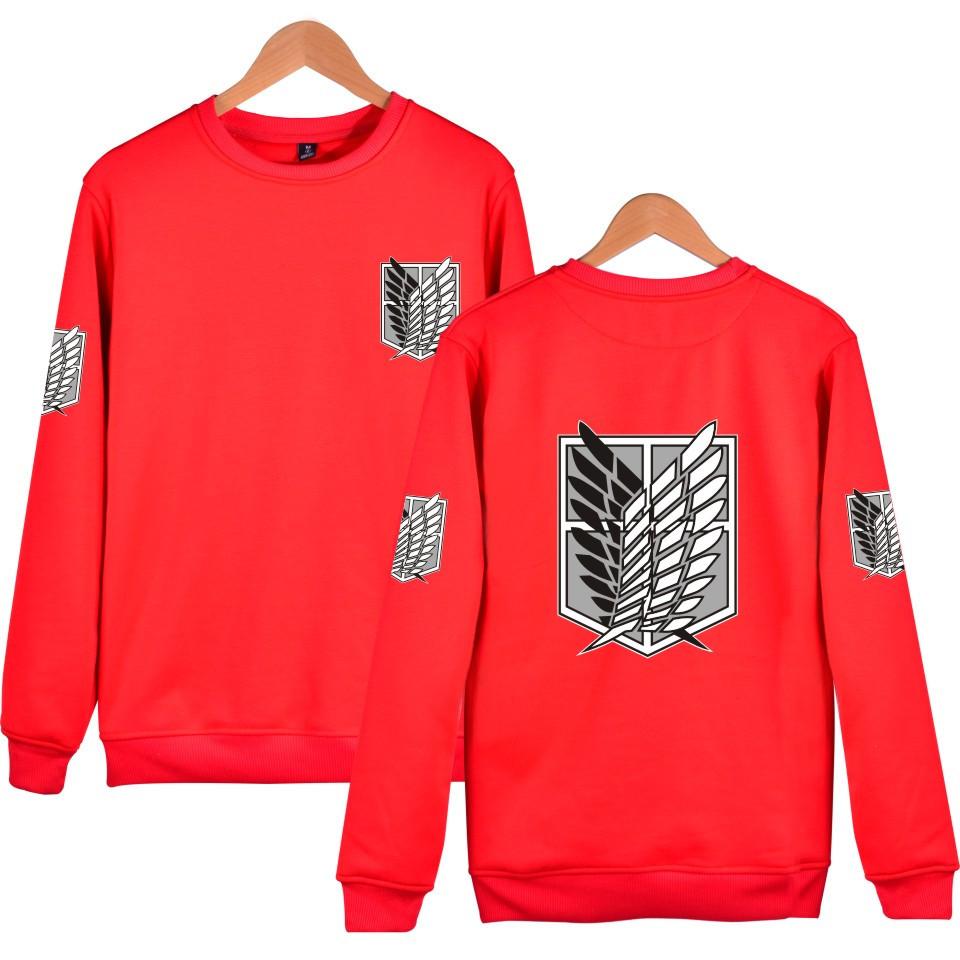 Attack On Titan red Sweatshirts