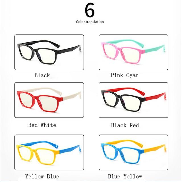 Zilead New Baby Anti-blue Light Silicone Glasses Brand Children Soft Frame Goggle Plain Glasses Kids Eye Fame Eywear Fashion | Happy Baby Mama
