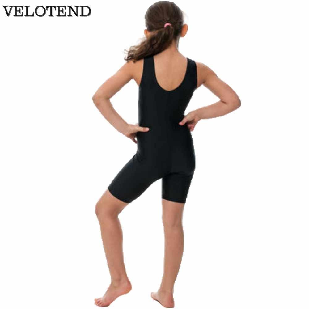 3f96e017233f Girls Tank Gymnastics Biketard Spandex Lycra Scoop Neck Short ...