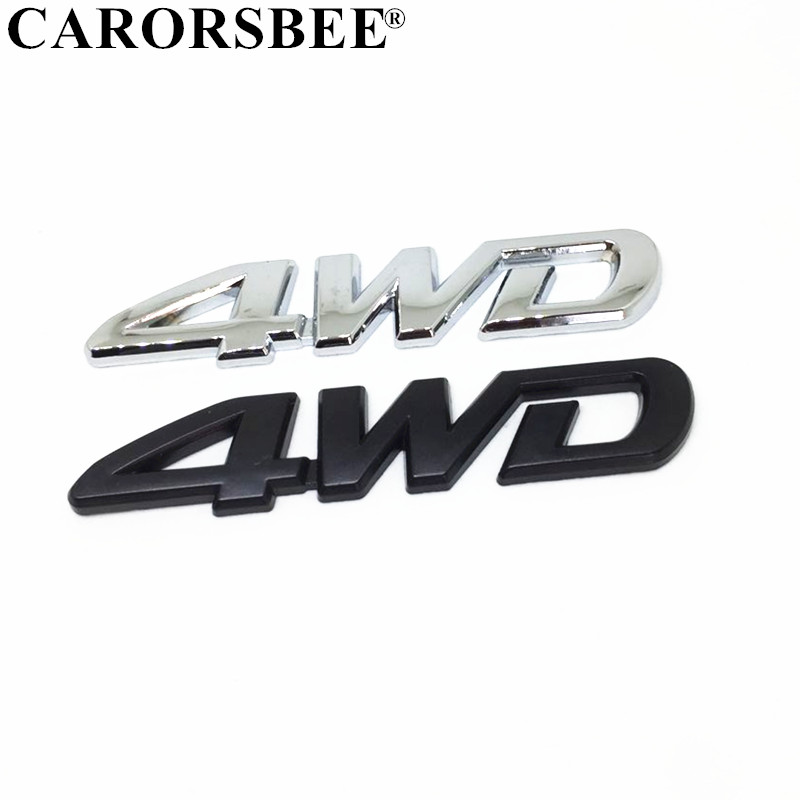 3D Chrome Metal Sticker 4WD Emblem 4X4 Badge Decal Car Styling Auto <font><b>Accessories</b></font> for <font><b>Hyundai</b></font> solaris tucson 2017 i30 <font><b>ix35</b></font> creta image