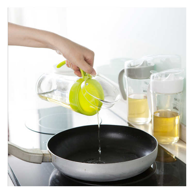 1 pscs น้ำมันหม้อ rolling pin น้ำส้มสายชูสามารถถั่วเหลืองซอส Leakproof แก้วขวดน้ำมันมะกอก itchen อุปกรณ์เสริม