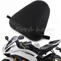 Nero del motociclo di ricambio in pelle sintetica sellino posteriore sedile del passeggero per yamaha yzf r6s 2006-2009 r6 2003-2005 04