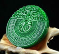 Wonderful Pretty Natural GanQing Jadeite Lucky Pendant green Jade Carved Phoenix Amulet Pendants Necklace Fashion Jewelry