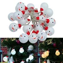 Jiawen 20 светодиодный s Снеговик струнные огни Сказочный светодиодный Рождественский свет домашний сад Санта батарея питание вечерние 4,5 в AAA крытые огни