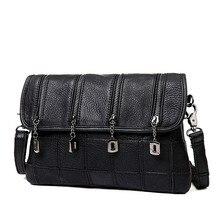 Fashion Cowhide Genuine Leather Patchwork Handbags Solid Shoulder Bag Small Messenger Bag Women Casual Crossbody Bags bolsas