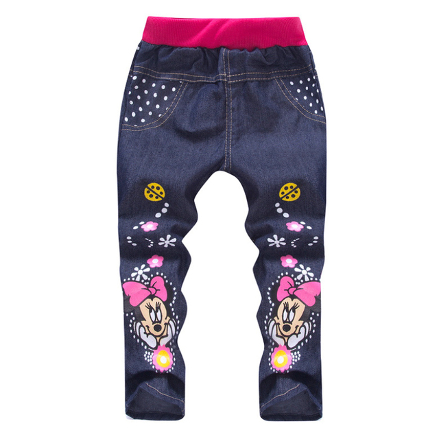 Spring/Autumn Fashion Minions Kids Casual Denim Pants 3-7Y baby clothes