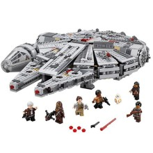 LEPIN 05007 Star Wars 7 The Force Awakening Millennium Falcon Building Blocks Educational Bricks Toys for Children