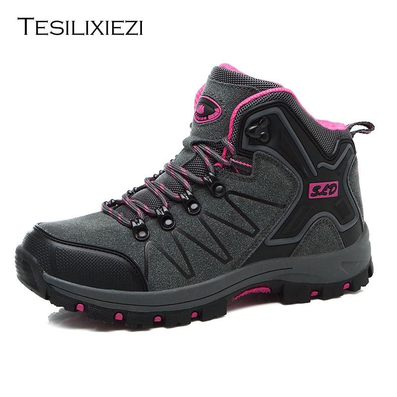 Comprar Alta Calidad Unisex Senderismo Zapatos Otoño Invierno Marca Mujeres  Al Aire Libre Deporte Cool Trekking Montaña Escalada Femenina Botas  Deportivas ... 9b50f14a6f1b