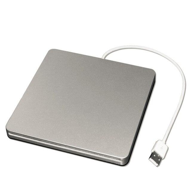 Neutro Geral USB2.0 Externo Slim Slot-in DVD-RW Burner CD-R 24X CD-ROM Para Windows/DVD + R 8X/DVD-ROW 8X/24X CD-ROW