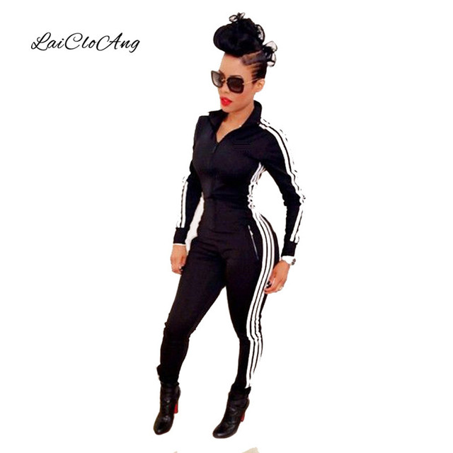 2016 Spring Autumn Women Sexy Jumsuits Deep Zipper Turn-down Collar Long-sleeve Rompers Solid Slim Pencil Pants Jumpsuits WP008