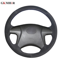 Black Suede Leather Car Steering Wheel Cover for Toyota Highlander 2008 2009 2010 2011 2012 2013 2014 Camry 2007 2011
