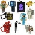 10 unids/lote Minecraft Micro Mundo 2 Percha Minecraft Creeper Juguetes Figuras de Acción Llavero Colgantes 3D Modelos de Juegos de Juguetes de Colección