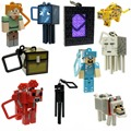 10pcs/lot Minecraft Micro World 2 Hanger Creeper Action Figure Toys Keychain Pendants 3D Minecraft Models Games Collection Toys