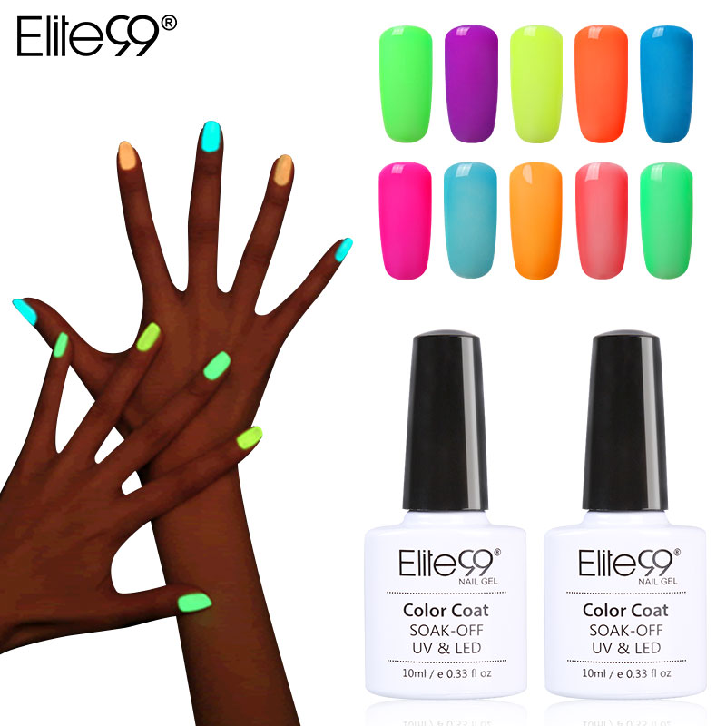 Elite99 10ml Night Glow In Dark Nail Gel Polish Fluorescent Luminous Lacquer 24 Candy Colors Led Uv L Pick 1 Underwear From Mother Kids