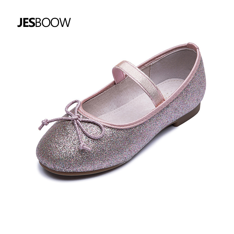 Girls shoes Kid glitter flat shoes Princess shoes Girls Rubber Princess Party shoes