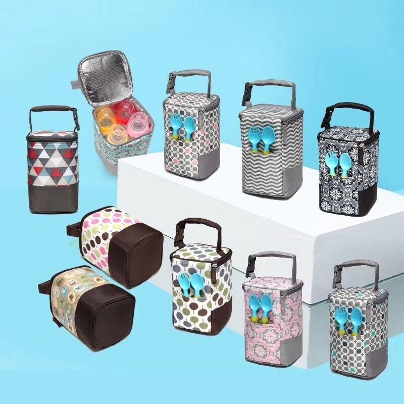 Portable Baby Feeding Milk Bottle Warmer Thermal Mummy Bottle Insulation Tote Hang Bag for Baby Bottles Bolsa Termica Thermos цена 2017