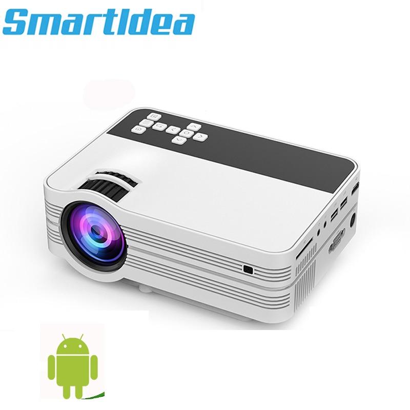 Smartldea 2000 lumens Android6.0 Mini LED TV projecteur HDMI 3D Home cinéma projecteur multimédia Full HD 1080 P jeu vidéo Proyector-in Vidéoprojecteur from Electronique on AliExpress - 11.11_Double 11_Singles' Day 1