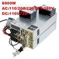8000W 110V power supply 110V 72A ON/OFF 0-5V analog signal control 0-110V adjustable power supply 110V High-Power PSU AC to DC