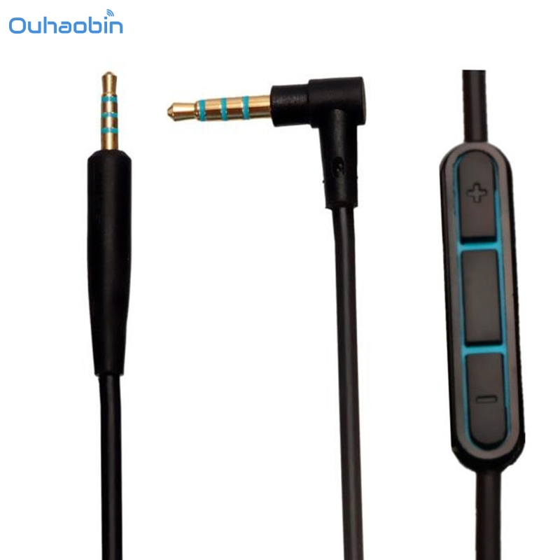 Ouhaobin Replacement Cable Cord For BOSE QuietComfort 25 QC25 W/Mic Volume Headphones Cable Black High Grade Cables Sep20
