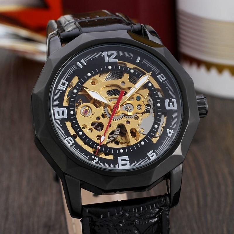 online get cheap real gold watch aliexpress com alibaba group winner polygon bezel flower hollow skeleton design watches men luxury brand automatic gold watch men real