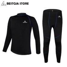Мужское зимнее термобелье, теплое, для велоспорта, базовый слой, флис, спортивные штаны, MTB велосипед, одежда для велосипеда/катания на лыжах/пеших прогулок