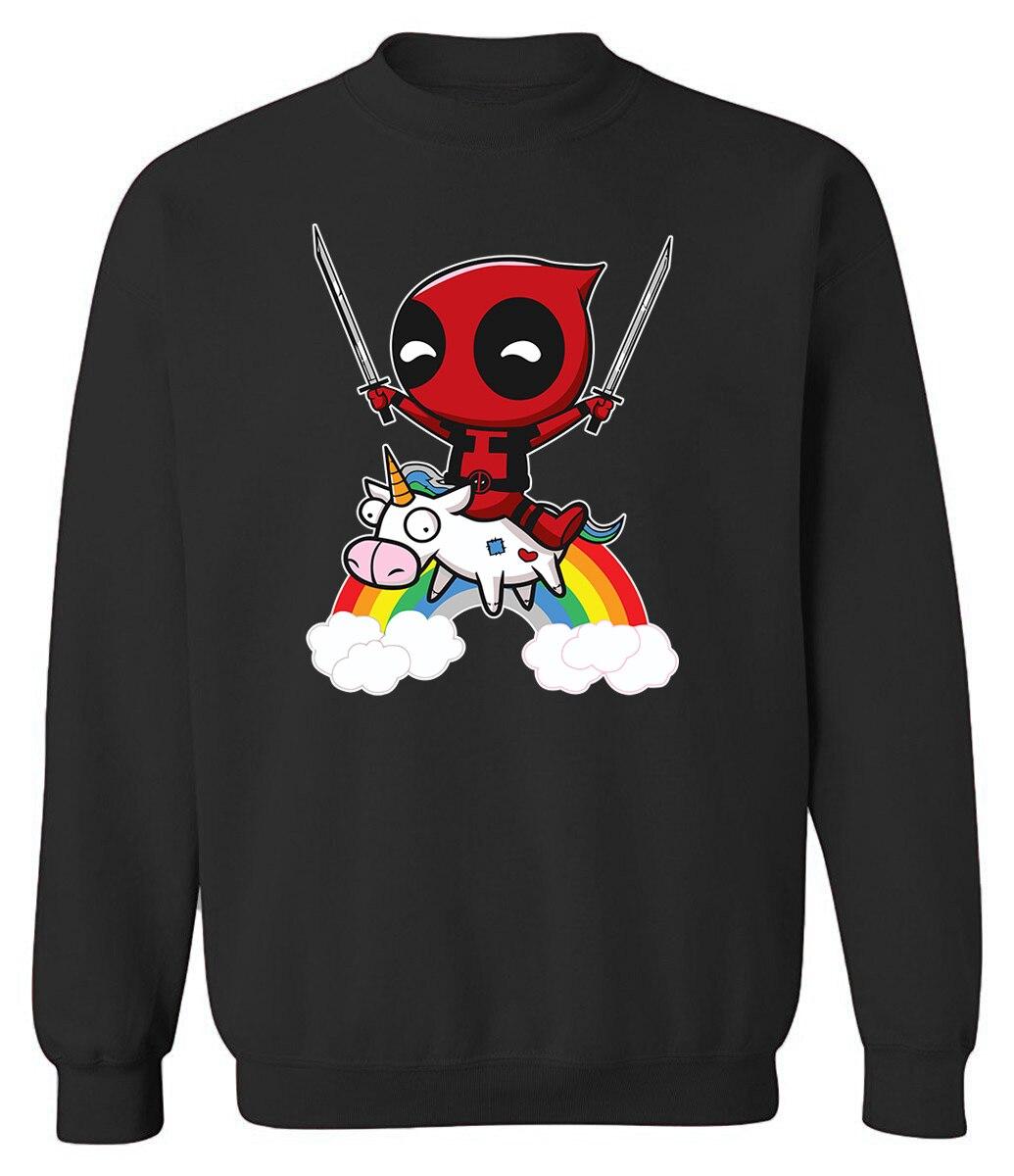 Autumn Winter 2019 New Arrival Sweatshirt For Men Hoodies Print DEADPOOL Cartoon Harajuku Streetwear Mens Hoody Pullover Hoodie