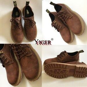 Image 3 - YIGER חדש גברים של פנאי נעלי גברים מקרית שרוכים נעלי גדול גודל נגד החלקה ללבוש עמיד גומי סוליות גברים של נעליים שטוחות 0075