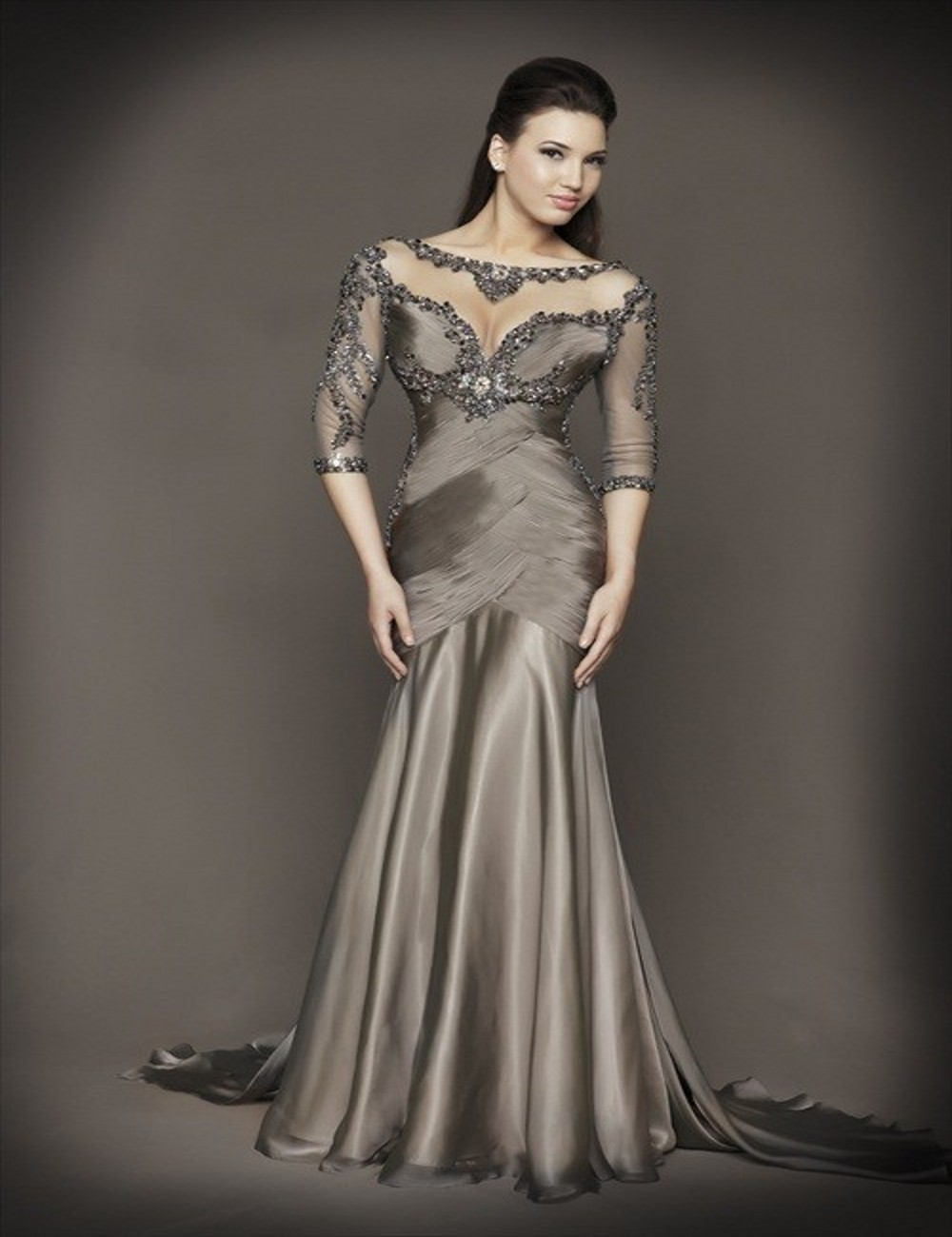 Affordable Formal Gowns with Sleeves | Dress images