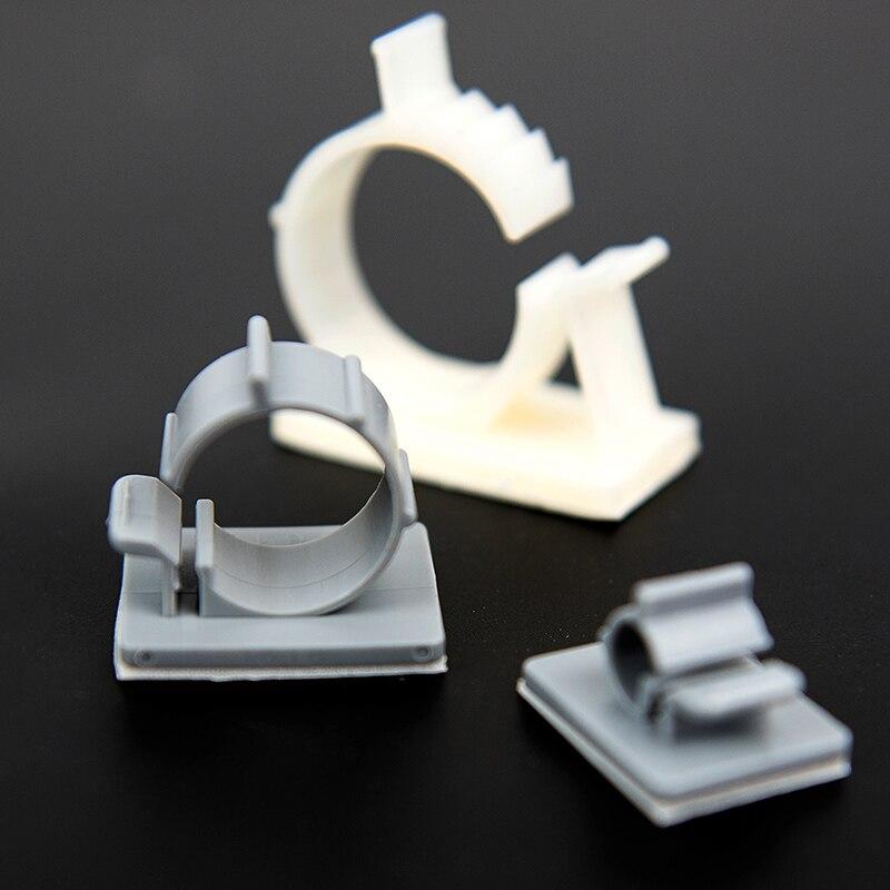 20 шт. ТС-1214 24.5x30 24.5*30 14 мм Диаметр серый двухступенчатый регулируемый самоклеющиеся сетевой кабель клипса пряжки фиксированный держатель