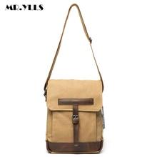 MR.YLLS Vintage Men Or Women Messenger Bags Canvas Zipper Crossbody Bag Casual Multi-Function Handbags School travel