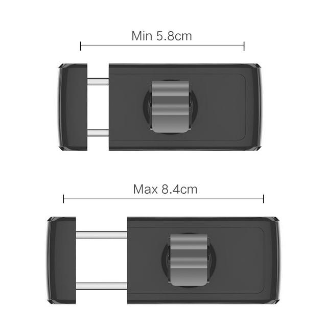 USAMS Car Phone Holder for iPhoneX 8 7 6 Adjustable Air Vent Mount Car Holder 360 Degree Rotation Support Mobile Car Phone Stand 3