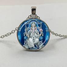 1ede42ab20 1 pz Signore Ganesh Ganesha Collana Dio della Fortuna Del Pendente Indù  Elephant Collana Buddha Meditazione Spirituale Della Col.