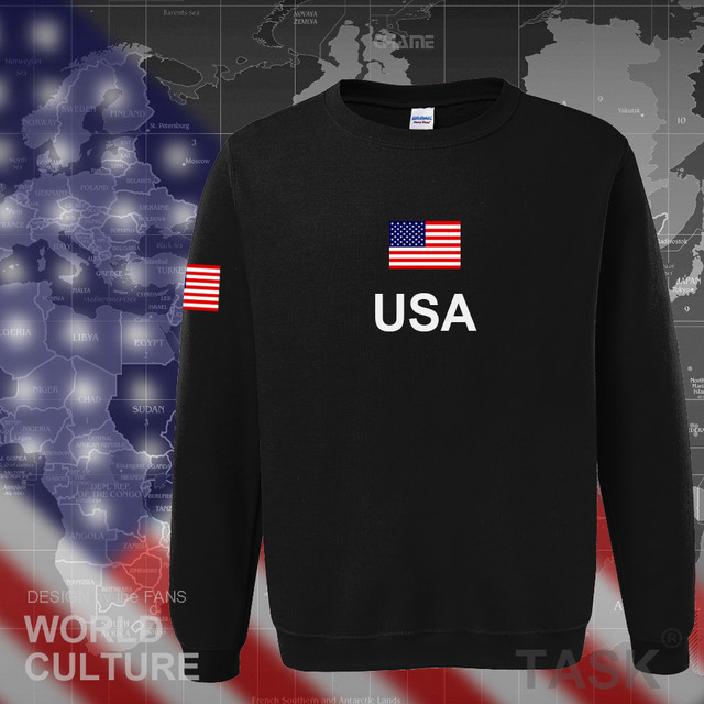 USA United States of America hoodies men 2017 sweatshirt sweat new hip hop streetwear American jerseys tracksuit nation flag US 1