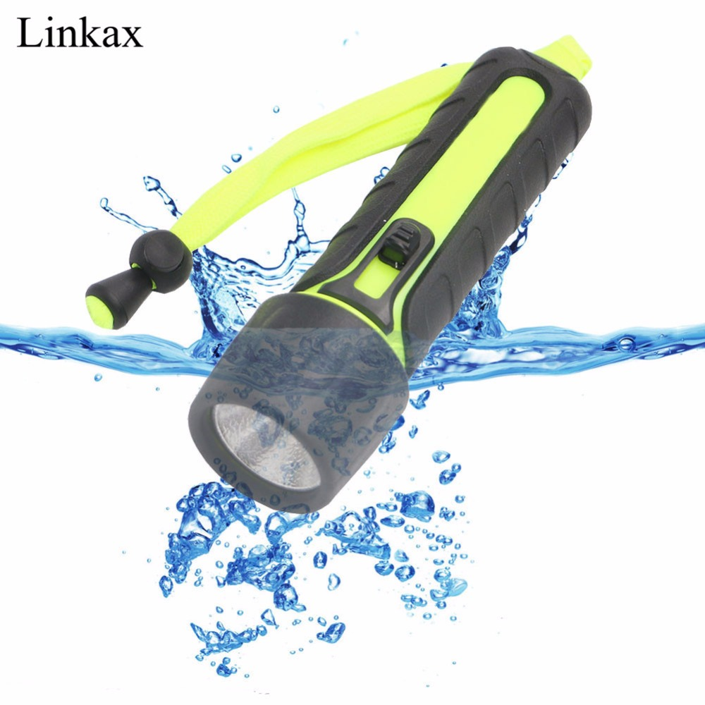 Diving Flashlight 1000LM Single Mode LED Lantterna Waterproof Underwater Diving Flashlight Torch Lamp Light for Hunting By 4*AA archon d10xl 3 mode white diving flashlight underwater 100m torch waterproof led light by 18650 battery for outdoor sports