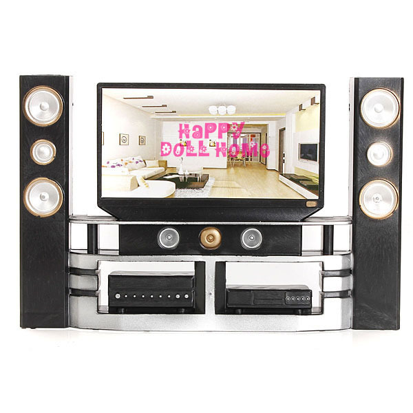 Hot Sale Mini Hi Fi 1:6 TV Home Theater Cabinet Set Combo For Barbie Doll  Clothes Dress Accessories House Furniture Child Toys In Dolls Accessories  From ...