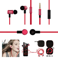 3.5mm In-ear Earphones Super Bass Metal Earphone Noise isolating Earbud headset For iphone 7 MP3 MP4 Xiaomi Huawei 2017 arrival