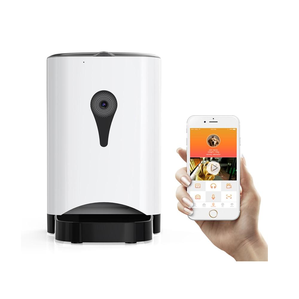 4.5L Wifi A Distanza di Controllo di Modo di Smart Alimentatore Automatico Dell'animale Domestico del Cane Del Gatto di Alimentazione Della Macchina APP di Controllo di Monitoraggio Video 2000 Ore GG