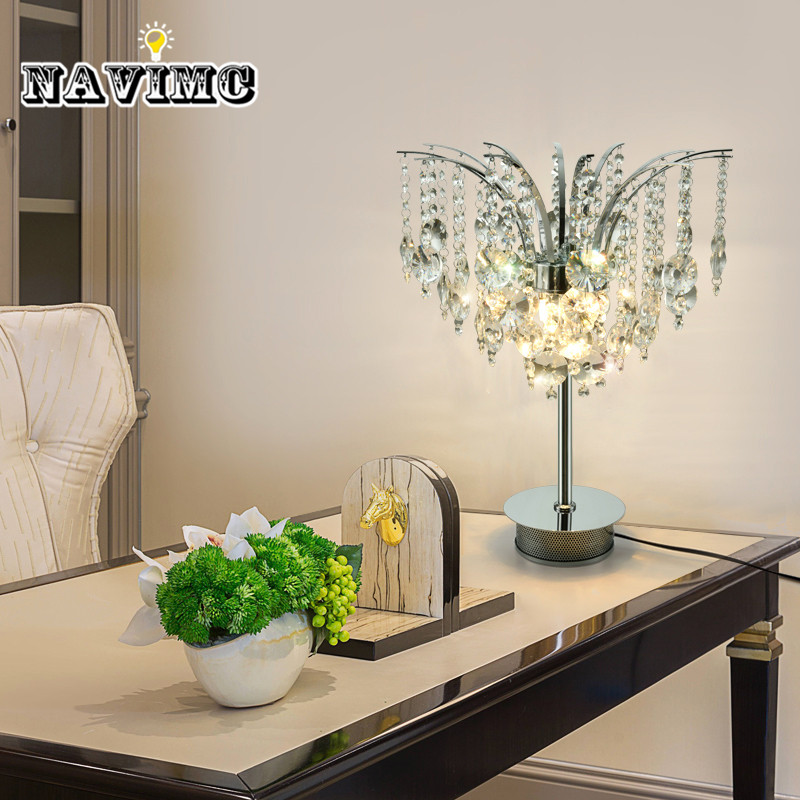 Fashion crystal table lamp bedroom simple modern led table lamp table lamp bedroom bedside creative study lamp цена