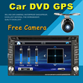 2 din coche reproductor de dvd GPS de radio de coche universal USB de audio auto sensor de aparcamiento de coches estéreo en el tablero de Bluetooth Libera El mapa + Cámara Para VW
