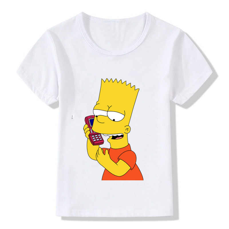 6a53a69a4e639 Funny Simpson Print Boys and Girls Cute Print Children's T-Shirt Summer  Short Sleeve Tops Casual Casual Round Neck T-Shirt
