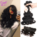 4 Bundles Malaysian Body Wave With Lace Frontal Closure Bundles 13X4 8A Grade Virgin Unprocessed Human Hair With Closure