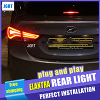 Car Styling For Hyundai Elantra Tail Lights 2011 2014 Elantra MD LED Tail Lights Rear Trunk