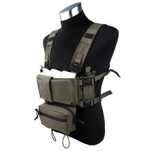 TMC Tactical Modular Chest Rig Micro Fight Chassis w/ 5.56 Mag Pouch Hunting Camo Airsoft Tactical Gear 3115(China)