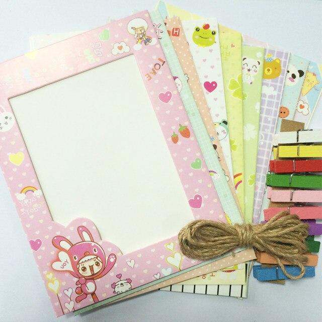 Online Shop 1 set DIY Cardboard hanging photo frame with clip ...