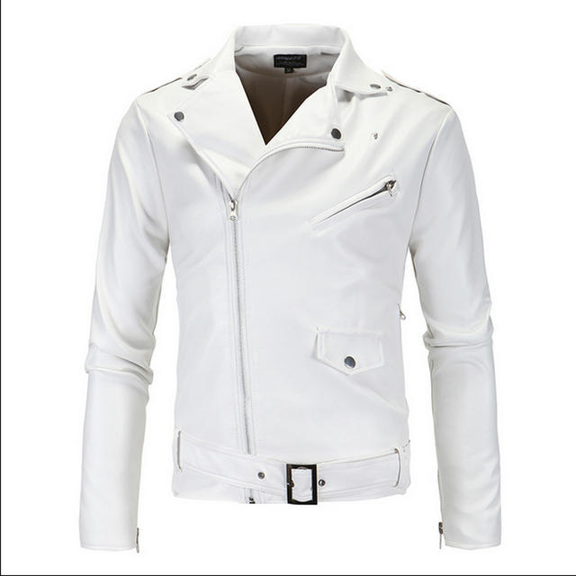 Leather Jacket Men Man Autumn  Men's Fashion Long Sleeve Male Leather Vest Jackets For Men Veste Cuir Homme