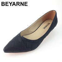 Vintage Style Women S Pointed Toe Pumps Spring Autumn PU Shallow Slip On Women Low Heel