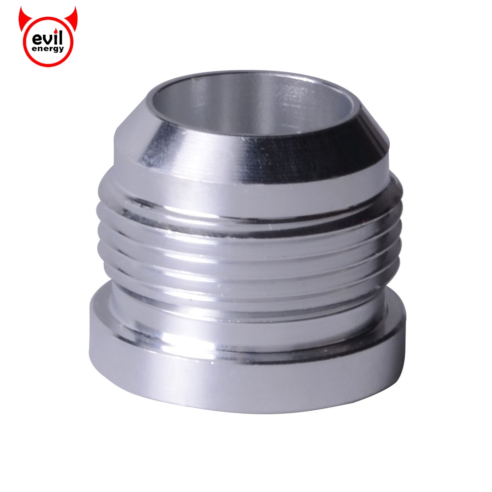evil energy AN16 Male Aluminum Weld On Fitting Bung Racing Turbo Oil Cooler Adapter Straight ...