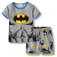 Купить с кэшбэком Baby Boys Girl Pajamas Cartoon Kids Infant Summer Nightwear Cotton Children Home Wear Suit 2pcs Tshirt+pants Toddler Sleepwear