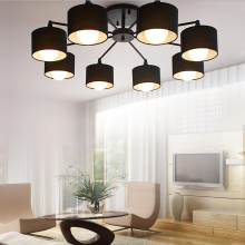 led e27 Nordic Iron Fabric LED Lamp.LED Light.Ceiling Lights.LED Ceiling Light.Ceiling Lamp For Foyer Bedroom Dinning Room
